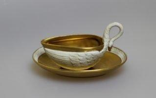 """Чайная пара """"Лебедь"""" Севрская фарфоровая мануфактура"""