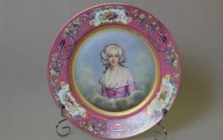 Тарелка Севр Портрет  Marie de Savoi