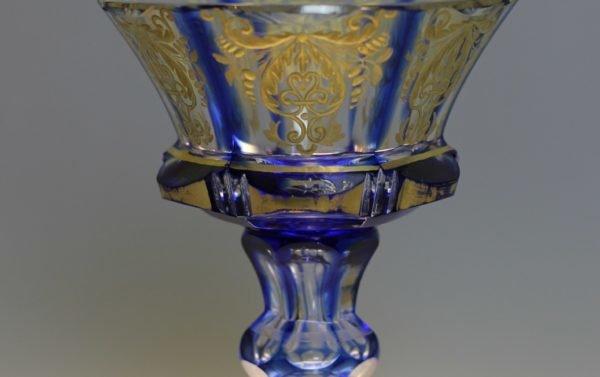 Ваза кобальтовое стекло