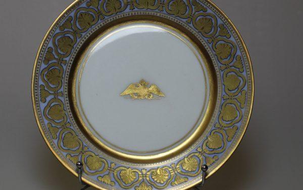 Тарелка ИФЗ из сервиза Ропшинского дворца
