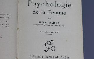 "Книга Анри Марион ""Психология женщин"". На французском языке"